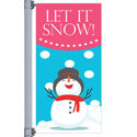 Let It Snow Street Pole Banner