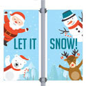 Let It Snow Double Street Pole Banner