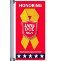 Red Honors Street Pole Banner