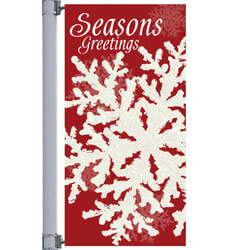 Red Icy Winter Street Pole Banner, DEKRIW3072V