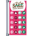Sale Dots Street Pole Banner
