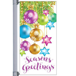 Stars On Ribbon Street Pole Banner,DEKSOR3072V