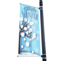 Season Winter Street Pole Banner,DEKSW3072V