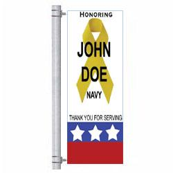 White Honors Street Pole Banner,DEKWH3060V