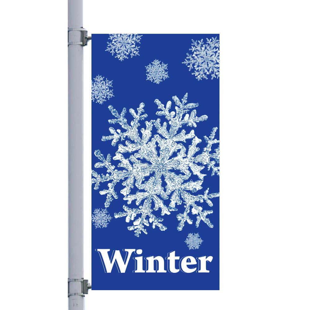 Winter Snowflake Street Pole Banner Fbpp0000012917