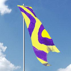 Yellow Purple Wave Style Wind Dancer Flag, DFLAG212WINDYP