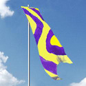 Nylon Yellow-Purple Wave Style Wind Dancer Flag
