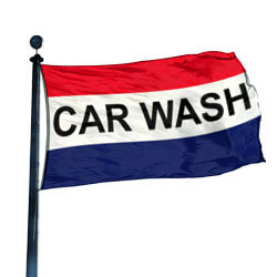 Car Wash Flag, DFLAG35CARW