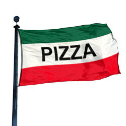 Pizza Flag, DFLAG35PIZZA