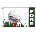Golf Fore Flag, DFLAG608A
