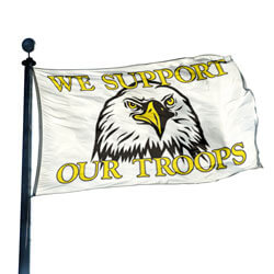 We Support Our Troops Eagle Flag, DFLAG616A