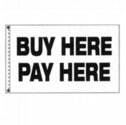 buy here pay here flag. Black Bedroom Furniture Sets. Home Design Ideas