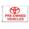 Toyota Pre-Owned Vehicles flag, DFLAGD35TPO