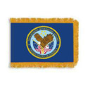 Department of Veteran Affairs Fringed Flag with Pole Hem, DFLAGDOVA35PHF