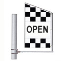 Checkered Open Crazy Flag