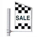 Checkered Sale Crazy Flag: Single Face Center Panel, DFLAGDR136HH