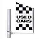 Checkered Used Cars Crazy Flag