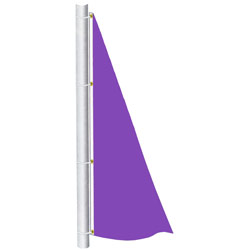 Lavender Color Spinnaker Flag, DFLAGNPS38A