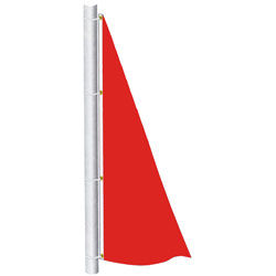 Canada Red Color Spinnaker Flag, DFLAGNPS38CR