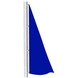 Deep Blue Color Spinnaker Flag, DFLAGNPS38DB
