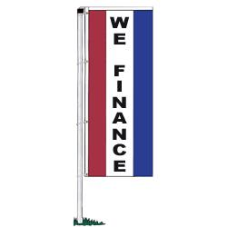 We Finance Rotator Drape Banners - Single-Face,DFLAGNS1138E