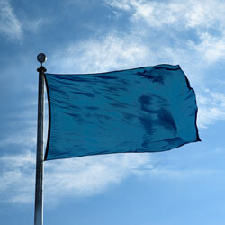DAR Blue Color Flag, DFLAGNY1218DARB