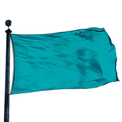 Turquoise Color Flag, DFLAGNY1218DD