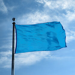 Process Blue Color Flag, DFLAGNY23PRB