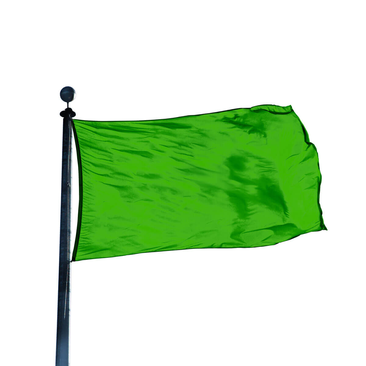 colorful attention grabbing flag with heavy bleached cloth heading