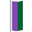 Nylon Lavender-Irish Green Double Stripe Drape Flag