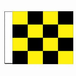 Yellow Checkered Golf Direction Flag, DGOLF327210T