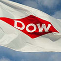 Custom logo flag for DOW Chemicals