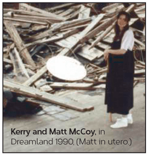 Kerry McCoy pregnant with Matthew in the ballroom 1990
