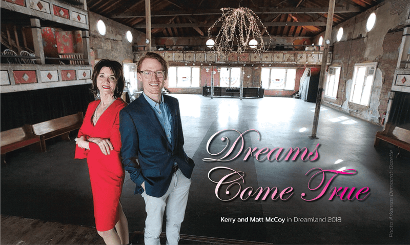 Kerry McCoy and Matthew McCoy in the Dreamland Ballroom