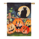 Haunting Halloween Night Suede House Flag, EE13S9321H