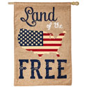 Land of the Free Burlap House Banner, EE13B3737