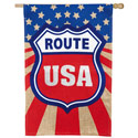 Route USA Burlap House Banner, EE13B3738BL