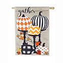 Gather Pattern Pumpkins Burlap House Flag, EE13B8747H