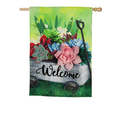 Succulent Wagon House Flag, EE13L8897BLH
