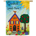 Grandkids Loved Here Suede House Banner, EE13S2499