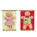 Gingerbread Cookies Boy & Girl House Banner, EE13S2531FB