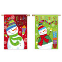 Funky Winter Friends Double Sided Garden Banner, EE14S2619FBG