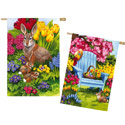 Easter Morning Suede Double Sided House Banner, EE14S3706FBG