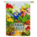 Gardeners Table Suede House Banner, EE14S4134G