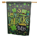 Happy St. Patricks Day Suede House Flag, EE13S8912H