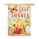 Give Thanks Suede House Flag, EE13S9212H