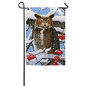 Great Horned Owl Garden Banner, EE14A3552G
