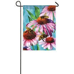 Bees and Coneflower Garden Banner, EE14A8545G