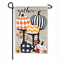 Gather Pattern Pumpkins Burlap Garden Flag, EE14B8747G
