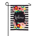 Floral Swag Welcome Garden Banner, EE14B9078BLG